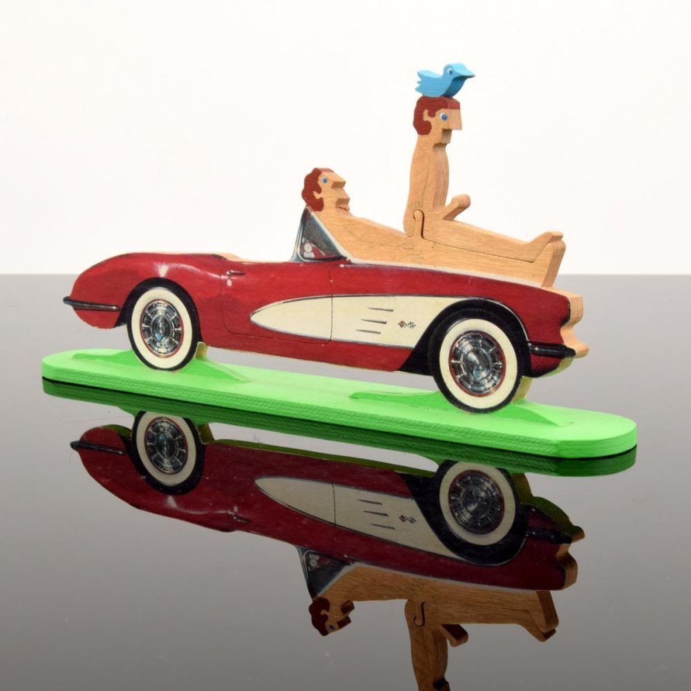 William Accorsi Homoerotic Sports Car Puzzle Sculpture