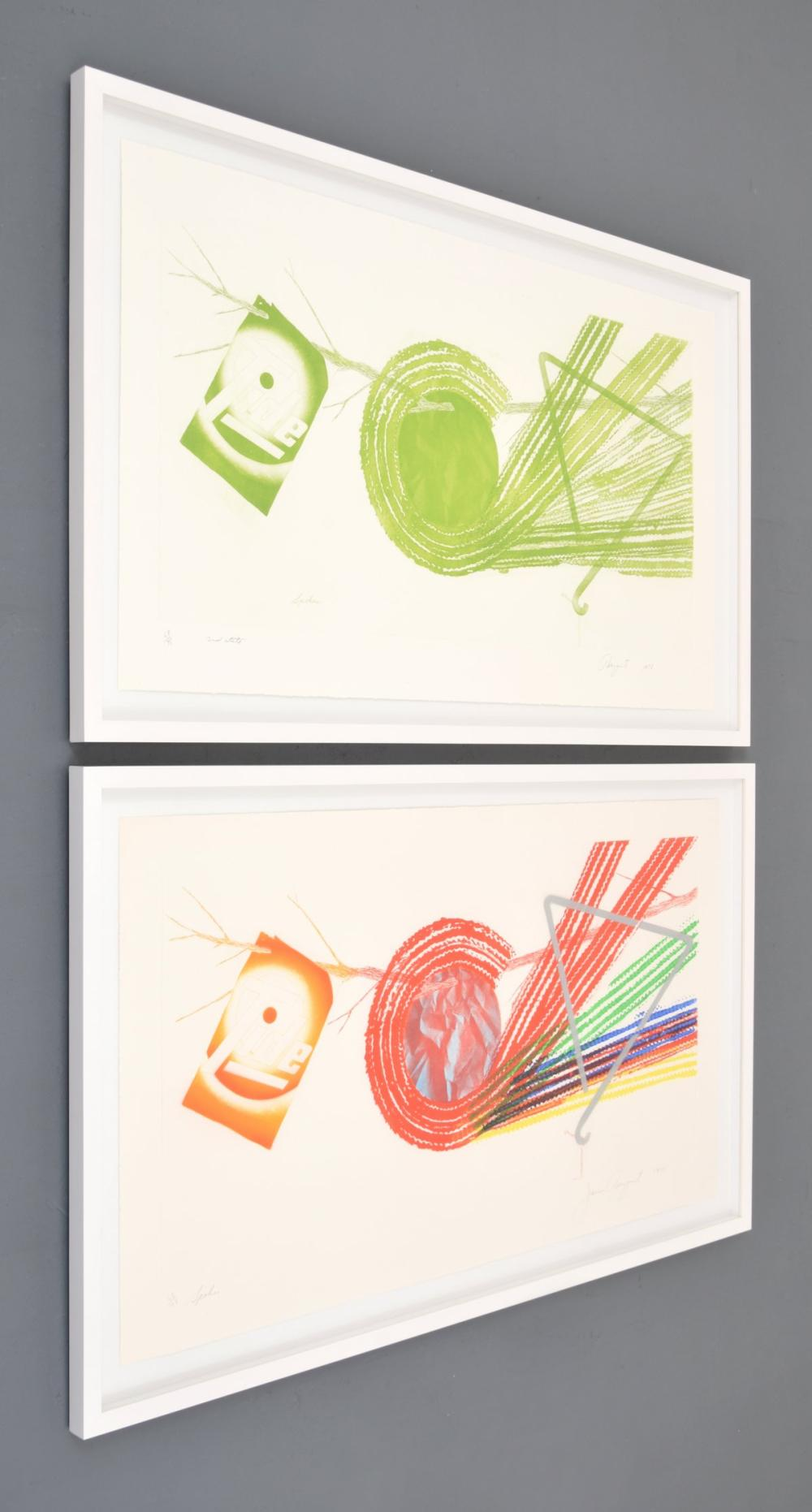 2 James Rosenquist SPOKES Etchings, Signed Editions