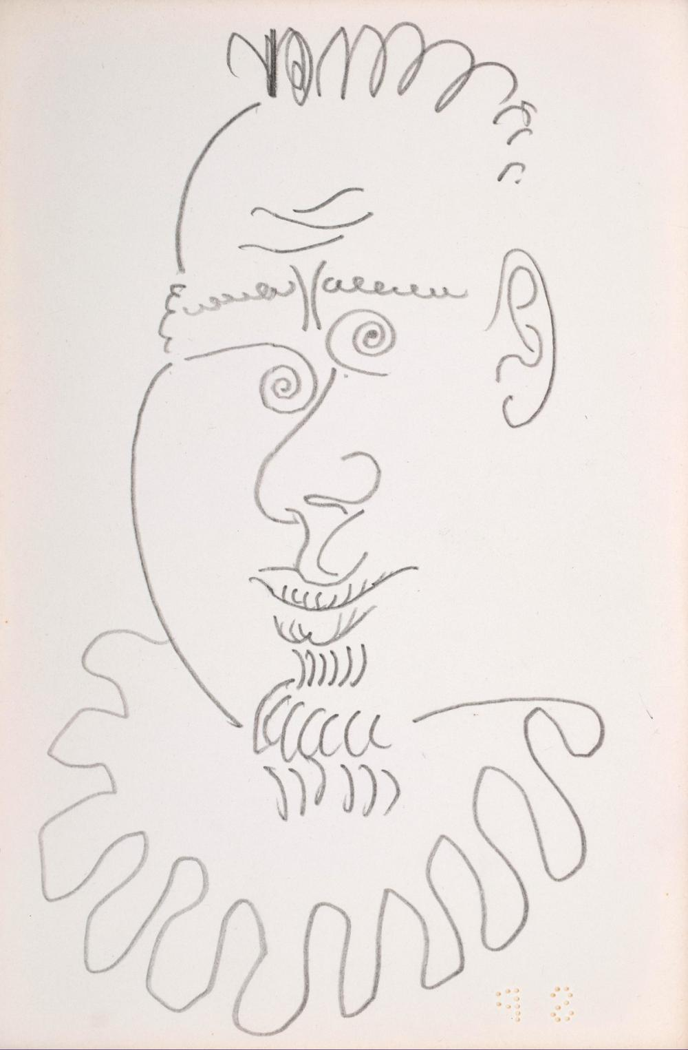 Pablo Picasso CHARLES FELD Double-Sided Drawing