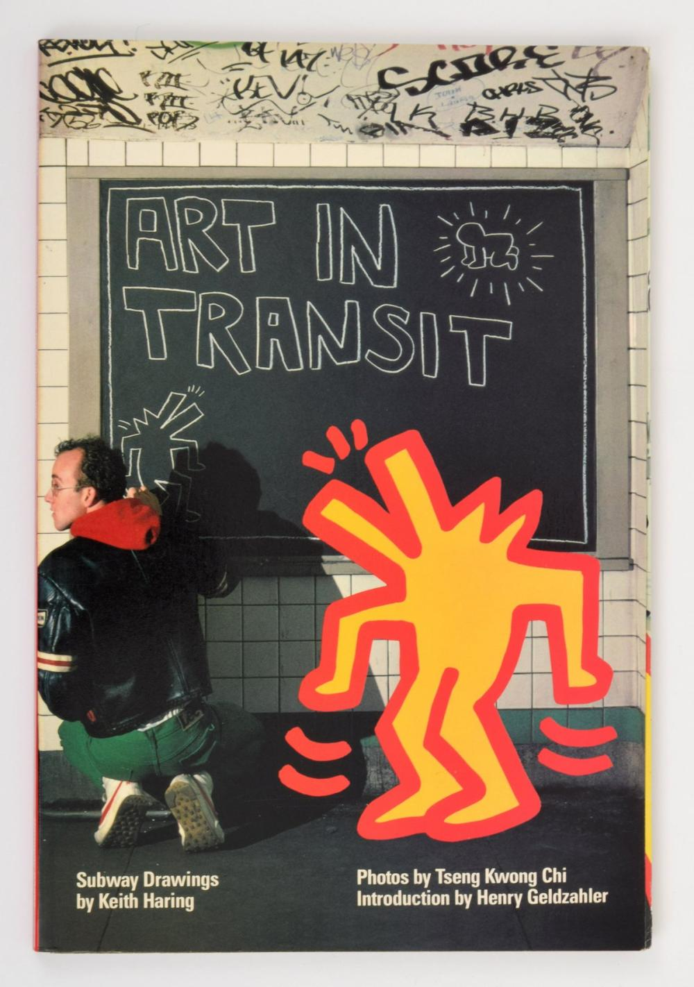 Keith Haring ART IN TRANSIT Book, Signed/Baby Sketch