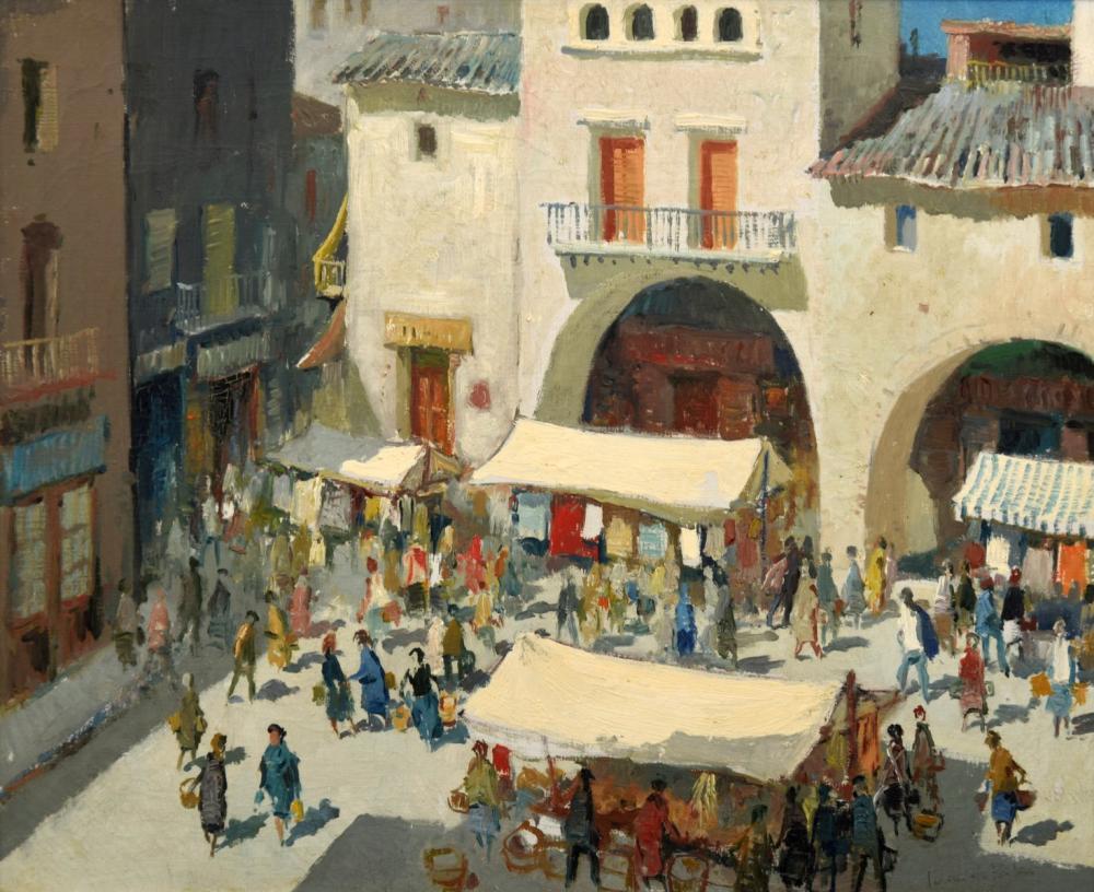 Juan de Palau Genre Painting