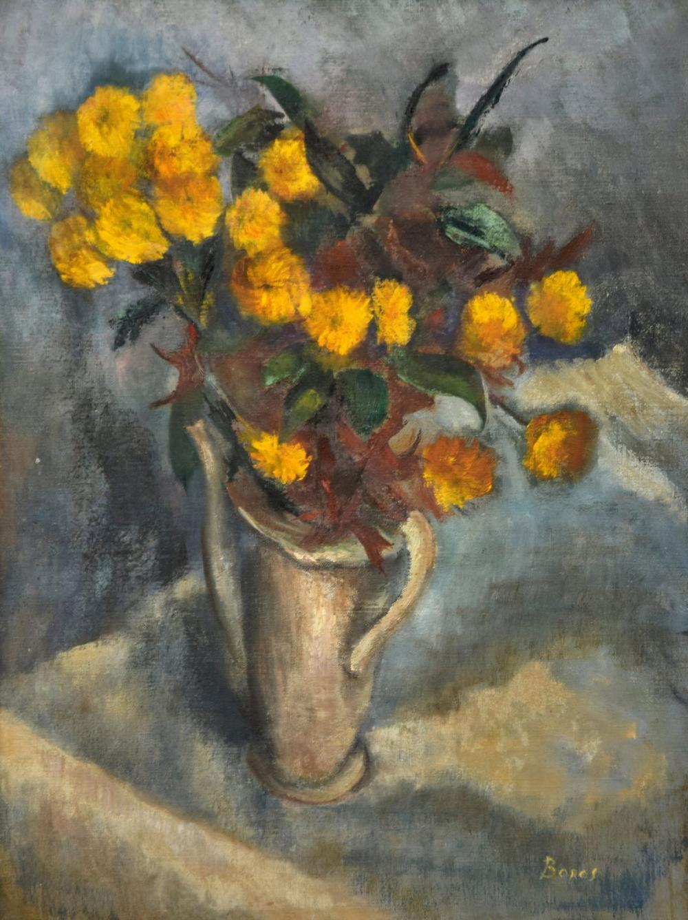 Floral Still Life Painting, Signed Boros
