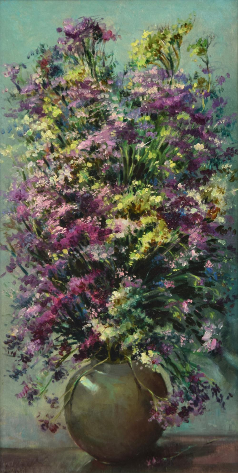 Luis Alfredo Lopez Mendez Floral Still Life Painting