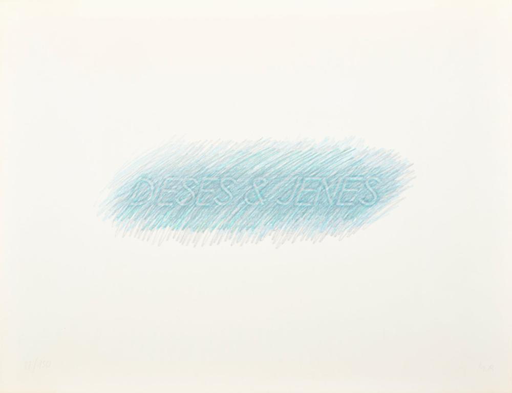 Markus Raetz Frottage Print, Signed Edition