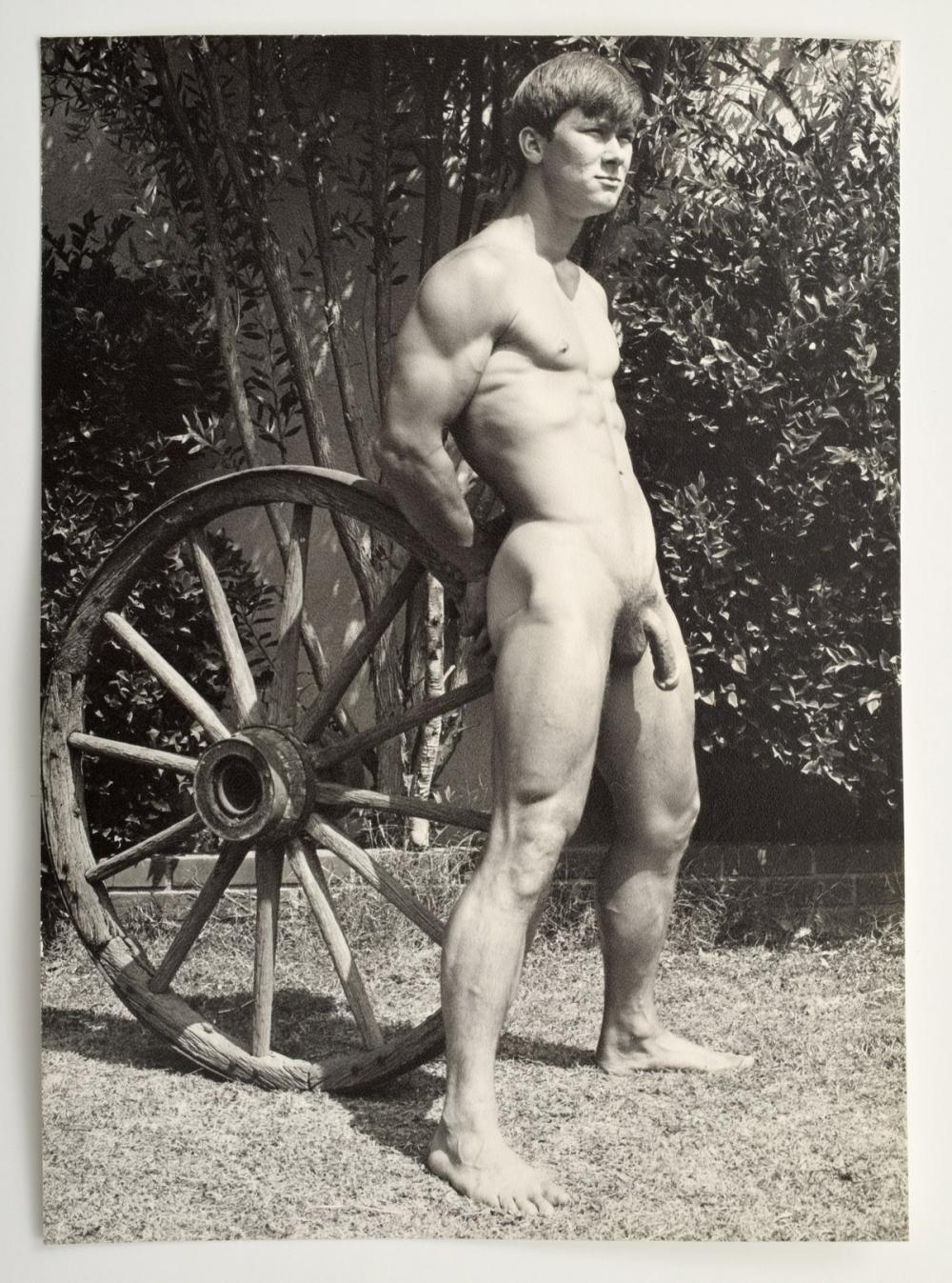 Vintage nude male models naked