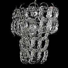 Italian Chandelier in the Manner of Angelo Mangiarotti