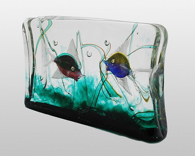 Murano Aquarium Block by Alfredo Barbini