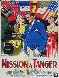 Paul Ordner French Movie Poster, Mission A Tanger, 1949