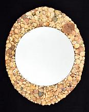 Large Vintage Shell Encrusted Mirror