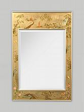 Large LeBarge Mirror, Chinoiserie Details