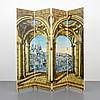 Rare Piero Fornasetti Folding Screen, Piero Fornasetti, $5,000