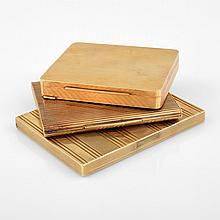 3 Estate Boxes/Cigarette Cases, 18K & 14K Gold