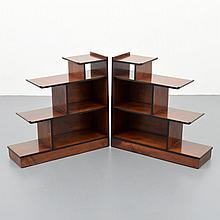 Pair of Tiered Shelves Attributed to Norman Bel Geddes