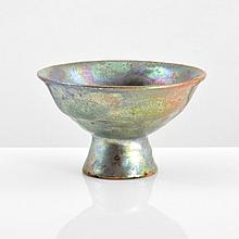 Beatrice Wood Iridescent Footed Vessel
