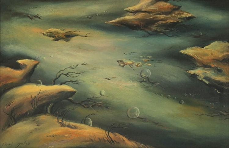 Dan Livni (b.1936) - Oil on Canvas.