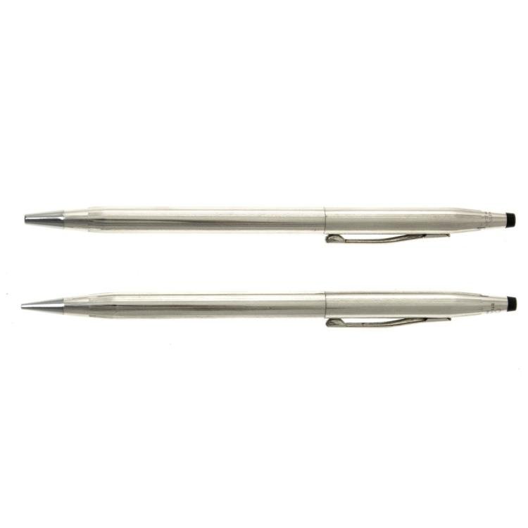 Cross Sterling Silver Ballpoint Pen and Propelling Pencil.