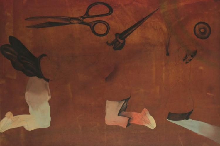 Oded Feingersh (b.1938) - Mixed Media on Paper.