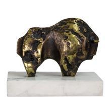 Emilia Xargay (Spanish, 1927-2002) - Bull Bronze Sculpture.
