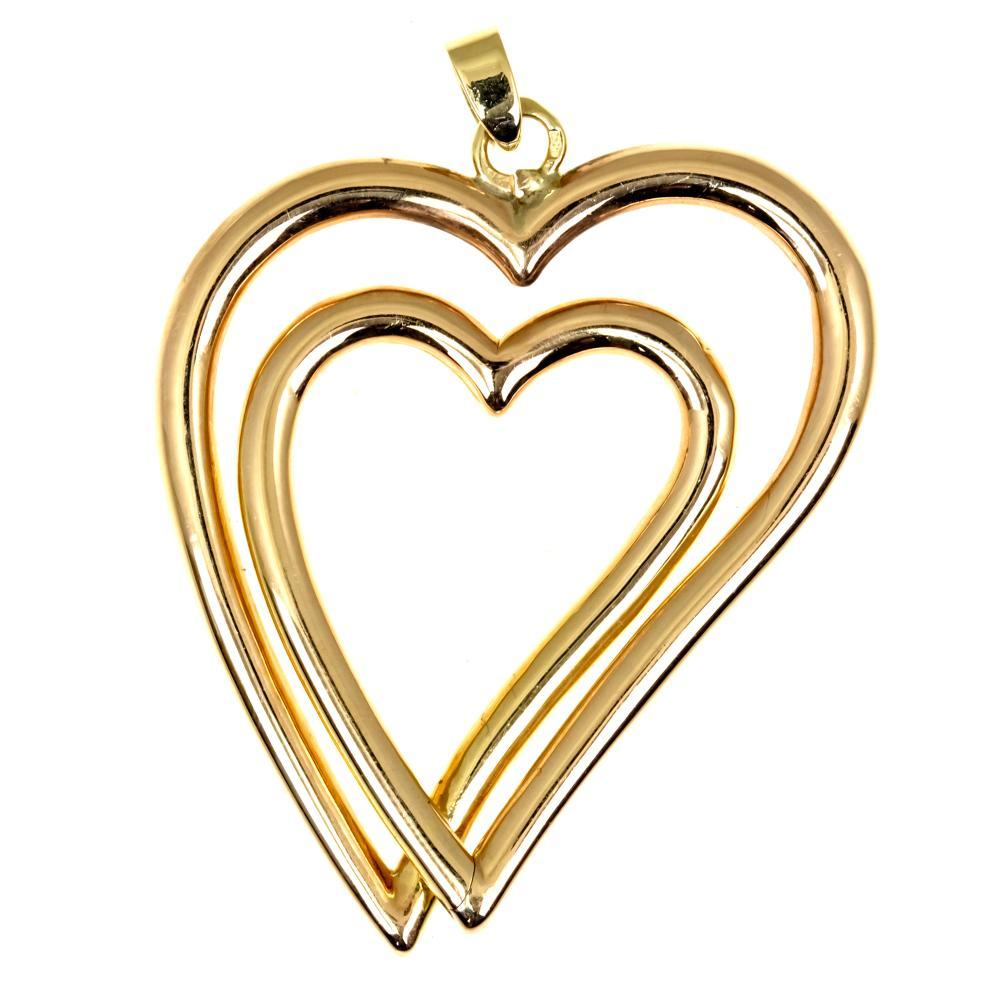 14K ROSE GOLD HEART PENDANT.