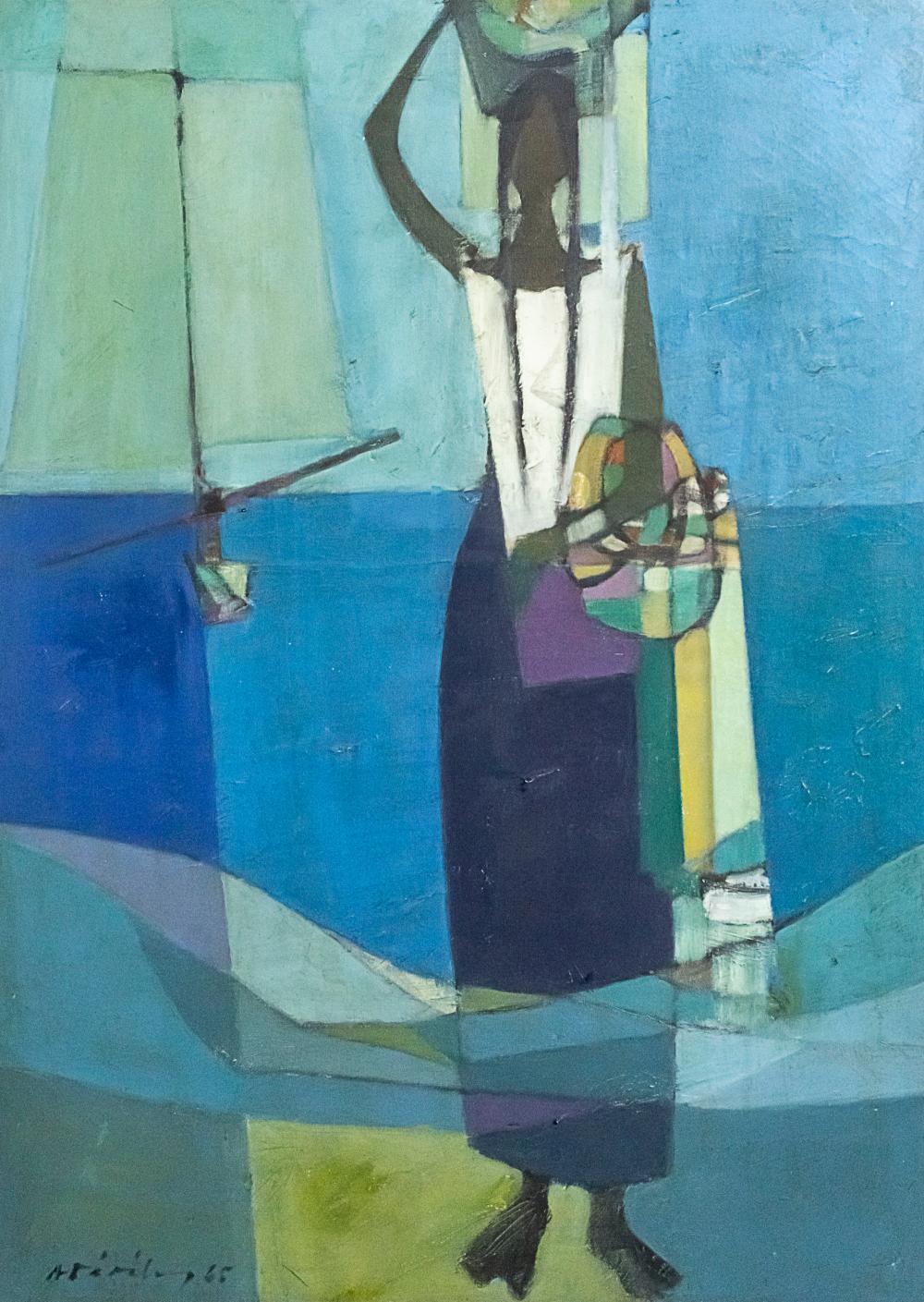 ALBERTO DAVILA (PERUVIAN, 1912-1988) - OIL ON CANVAS, 1965.