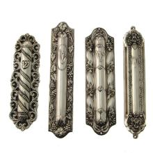 Four Sterling Silver Mezuzah Cases, Judaica.