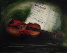 Josef Farhi (1931-1997) - Hommage a Sibelius, Oil on Canvas, 1965.