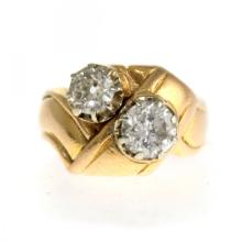 18k Yellow Gold 1.25ct Diamond Ring.