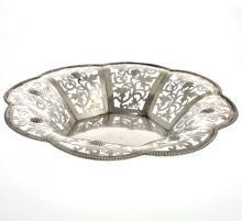 Silver Basket, Poland, 20th Century.