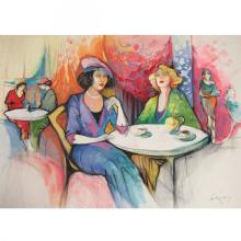 Gerti Rubinstein - Salon de The, Watercolors and Pastel