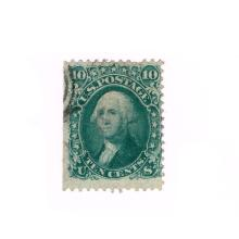 1867 Stamp, 10 Cents, George Washington, Scott #96, USA