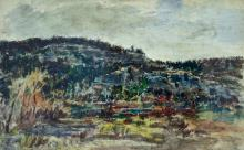 Charles Tcherniawsky (Russia, 1900-1976) - Landscape, Watercolor and Ink on Paper.