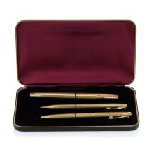 Sheaffer - Three Gold Plated Pens.