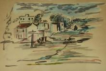 David Hendler (1904-1984) - Landscape, Watercolor on Paper.
