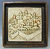 Eliezer Weishoff Jerusalem Ceramic Relief Israel 1960s, Eliezer Weishoff, Click for value