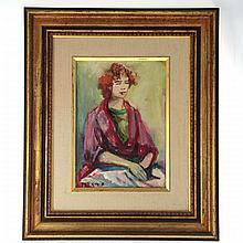 Esther Perez-Arad (1921-2005) - Woman, Oil on Canvas