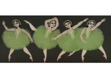Carlos Perteagudo (b.1937) - Dancers, Oil on Masonite.