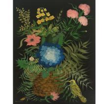Carlos Perteagudo (b.1937) - Flowers, Oil on Masonite.