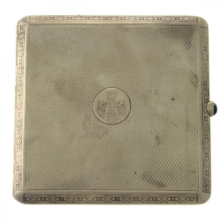 Silver Cigarette Case, Vienna, Austria, 1867-1922.