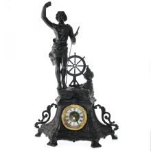 Vintage Figural Mantel Clock.