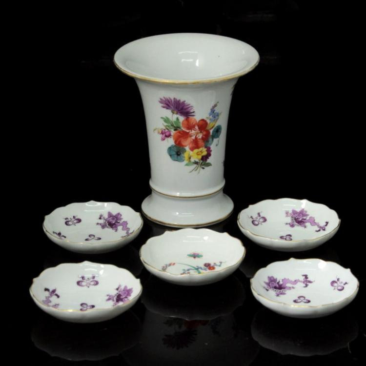 Lot of Meissen Porcelain Items.