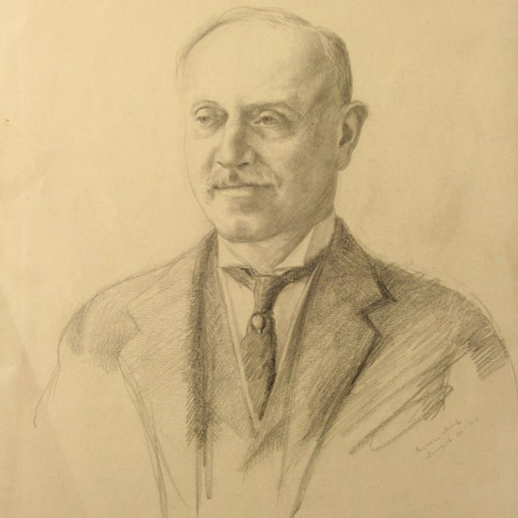 Hermann Struck - Portrait, Pencil on Paper, N.Y, 1913.