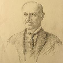 Hermann Struck - Portrait, Pencil on Paper, N.Y, 1913.
