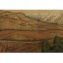 Hermann Struck - Landscape, Color Etching.