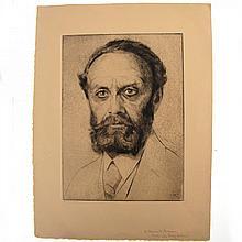 Hermann Struck - Dr. Heinrich Braun Portrait, Etching.