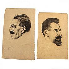 Hermann Struck - Frishman & Zalman Shneur Lithographs.