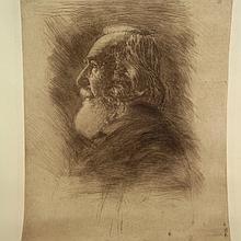 Hermann Struck - Professor Ernst Haeckel, Large Etching