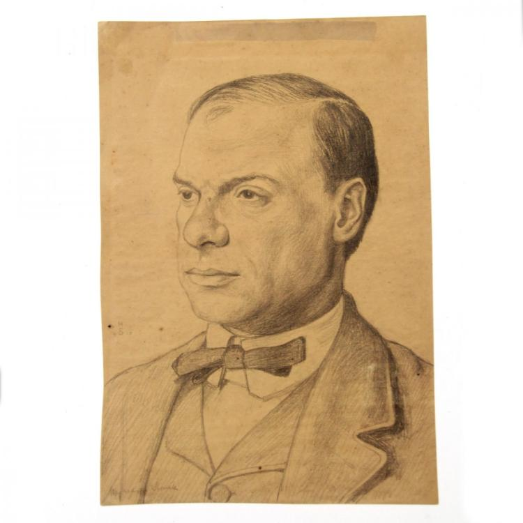 Hermann Struck - Julius Berd, Pencil on Paper, 1910.