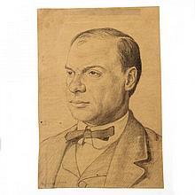 Hermann Struck - Julius Berd, Pencil on Paper, 1910.