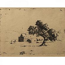 Hermann Struck - Rachel's Tomb IV, Etching, 1927.