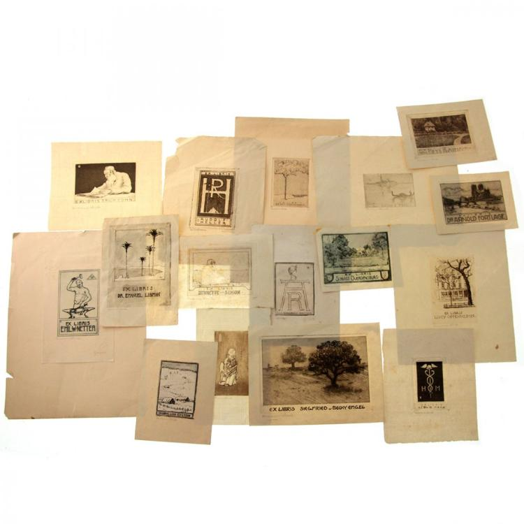 Hermann Struck (1876-1944) - 16 Ex Libris Etchings.